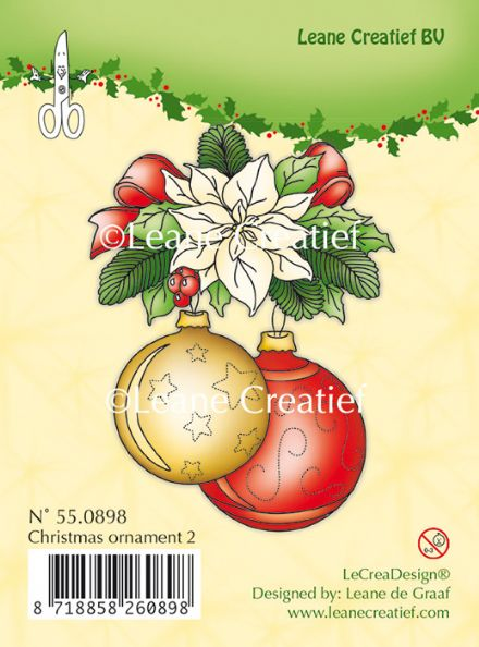 55.0898 ~ CHRISTMAS ORNAMENTS 2   ~ Leane Creatief Clear Stamp